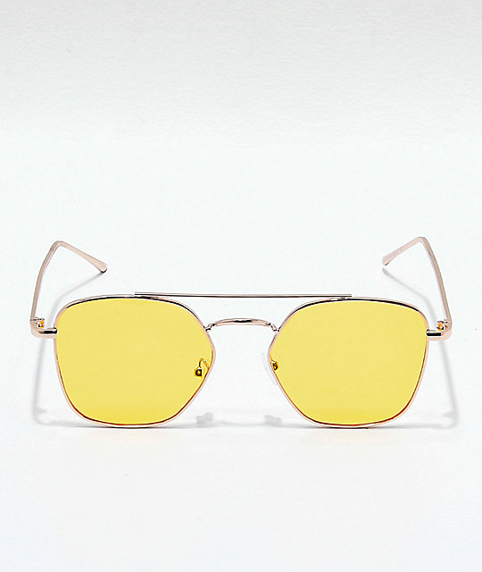 Oversized Yellow Sunglasses