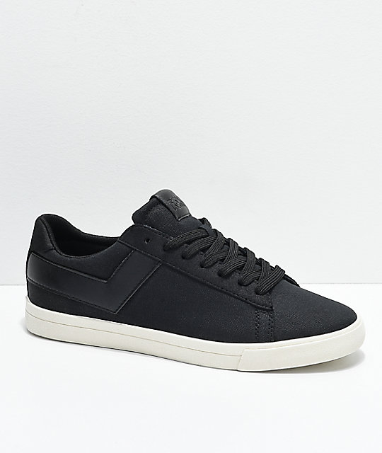 PONY Topstar Lo Black & White Canvas Shoes