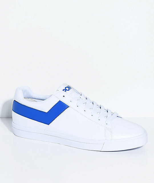 PONY Topstar Lo White & Royal Blue Shoes