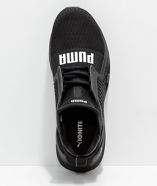 f9bbe354c4e5 ... PUMA Ignite Limitless All Black Knit Shoes ...