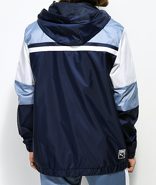 PUMA Archive Logo Blue Windbreaker Jacket