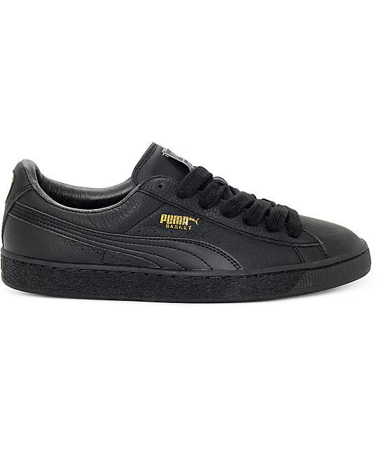 the latest aa625 ee150 PUMA Basket Classic All Black Shoes