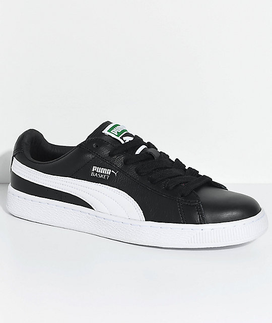 c2fbad0636ca PUMA Basket Classic LFS Black   White Shoes