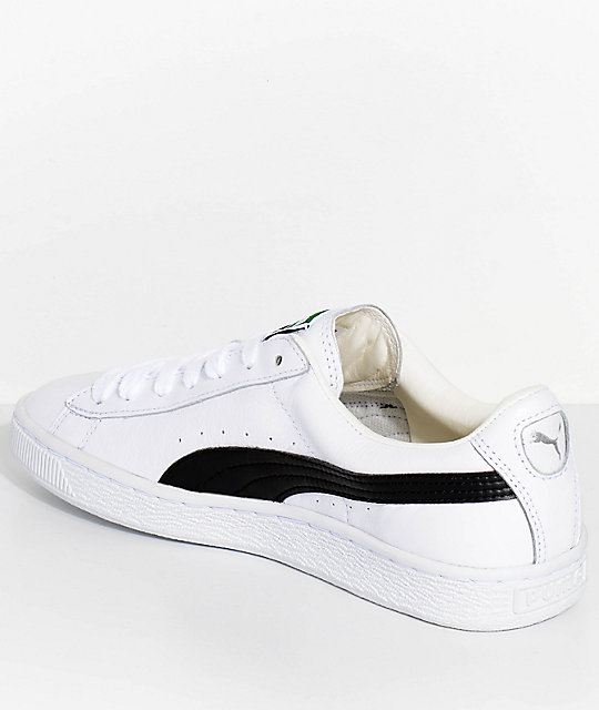 PUMA Basket Classic LFS White & Black Shoes
