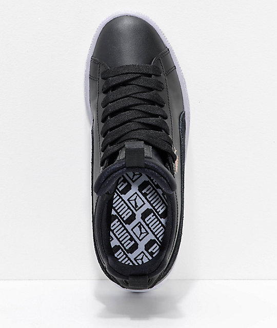 PUMA Basket Fierce Black & White Shoes