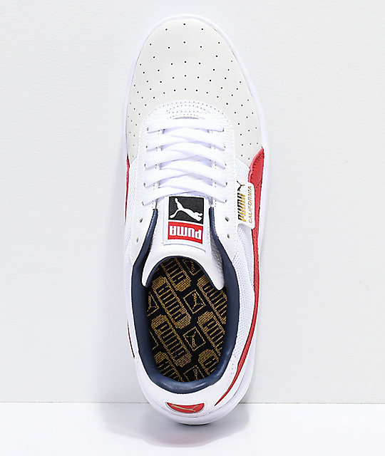 4595062617d07d Zumiez PUMA Casual amp  Red California White Shoes HYwqT8a