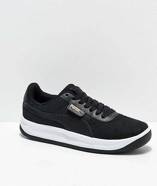 33de46d08 PUMA California zapatos negros y blancos ...