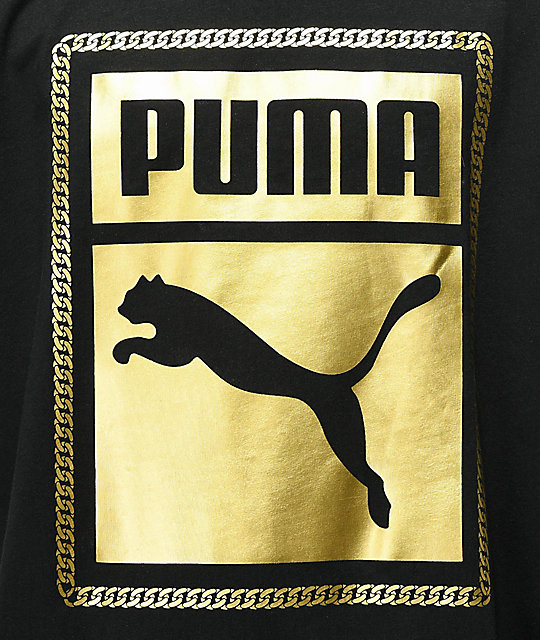 PUMA Chains camiseta negra