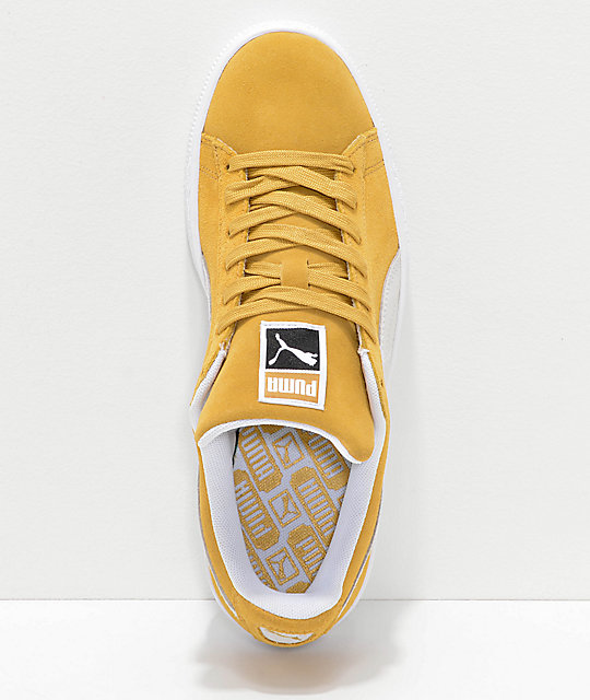 PUMA Classic+ Honey Mustard zapatos de ante amarillo