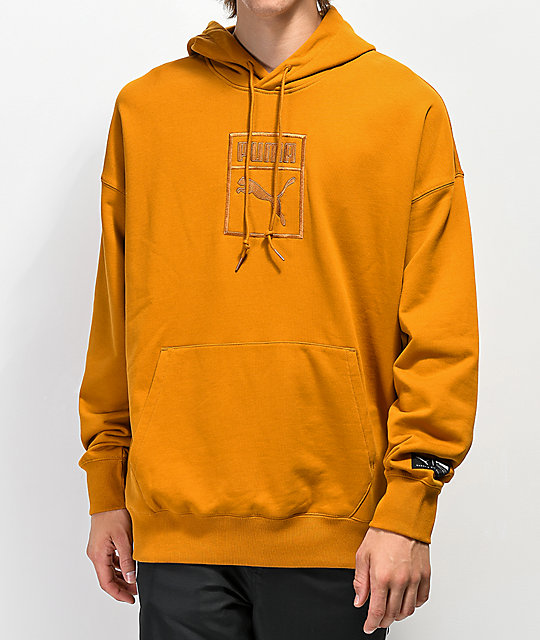 PUMA Downtown Oversized Gold Hoodie  89a5cca84f0bf