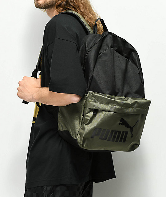 5372032b43 ... PUMA Evercat Lifeline Black   Olive Backpack ...