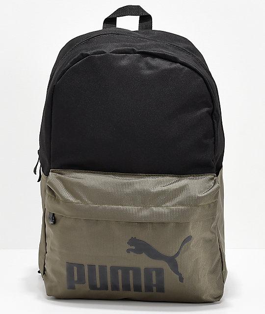 9680d4fe2e PUMA Evercat Lifeline Black   Olive Backpack