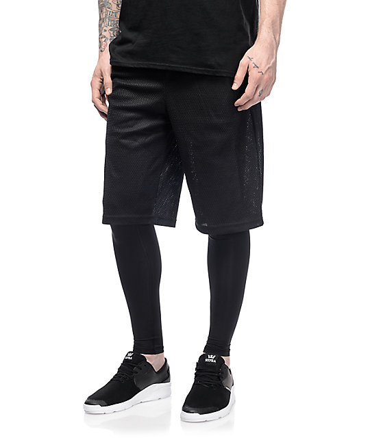 PUMA Evo Layered Black Shorts ...
