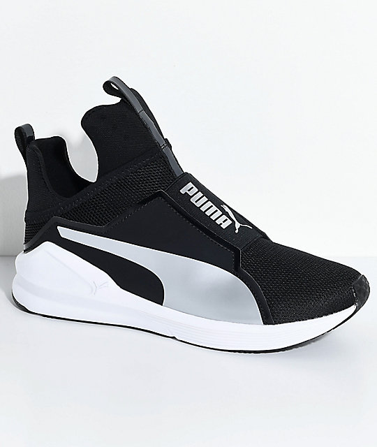 Puma FIERCE CORE - Sports shoes - black/silver wt2PgS