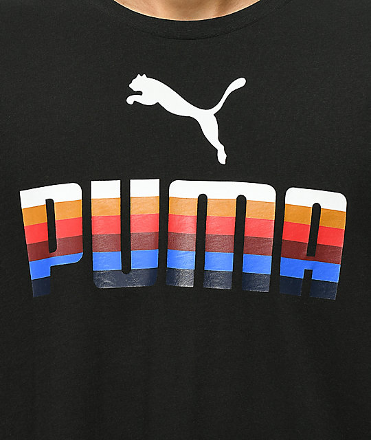 PUMA Graphic Black T-Shirt