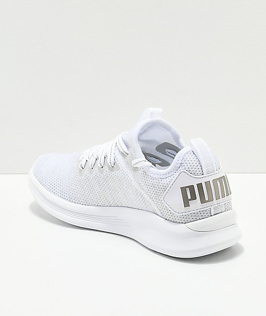 7142252040d ... PUMA Ignite Flash Evoknit Grey   White Shoes ...