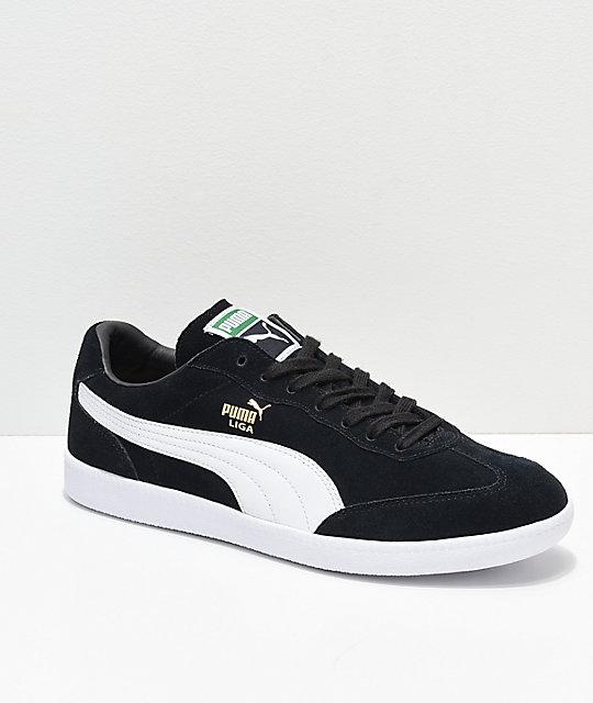 PUMA Liga Suede Black & White Shoes