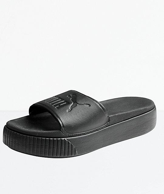 33c5b96513c PUMA Platform Bold Black Slide Sandals