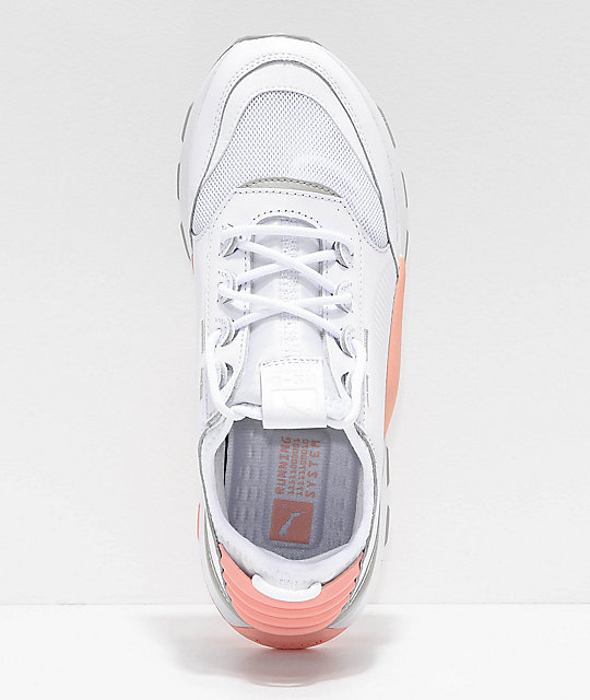 PUMA RS-0 808 White & Pink Shoes
