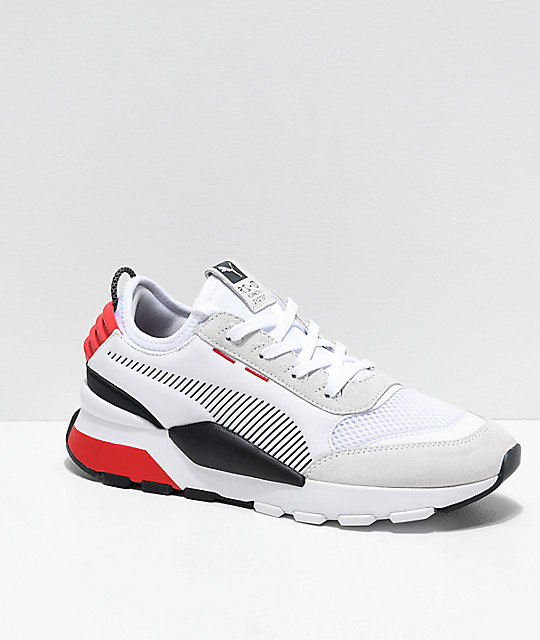 zapatos blancos puma