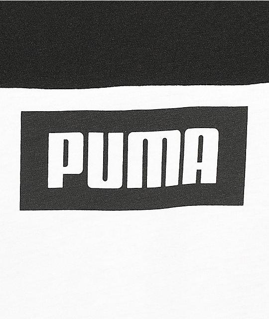 ... PUMA Rebel Block camiseta negra y blanca ... 24371fcdaa127