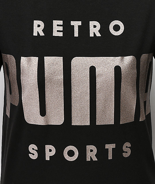 PUMA Retro Black T-Shirt