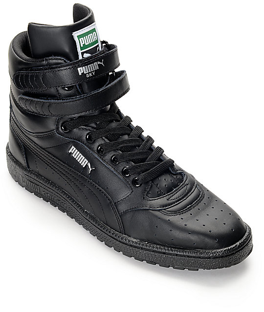 PUMA Sky II Hi Black Shoes  d3480fd3c