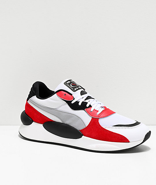 2a5c69f9a31 PUMA Space !RS 9.8 White & Red Shoes