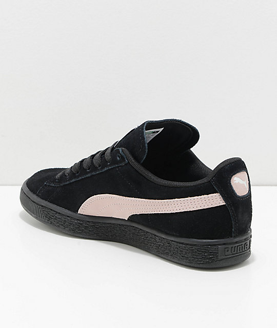 PUMA Suede Classic+ Black & Pearl Shoes