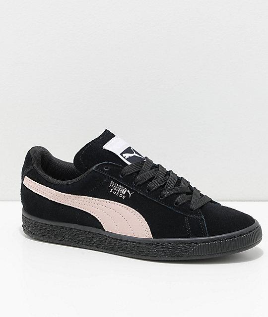 sale retailer cb2a5 5952f PUMA Suede Classic+ Black & Pearl Shoes
