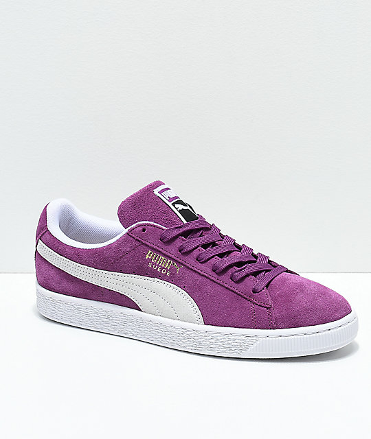 9e70564d88b7 PUMA Suede Classic+ Grape   White Shoes