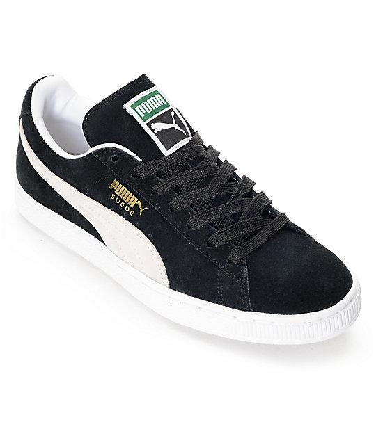 605eda243edec PUMA Suede Classic + Black Shoes