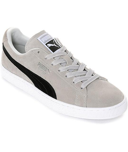 premium selection 20822 1c239 PUMA Suede Classic + Grey & Black Shoes
