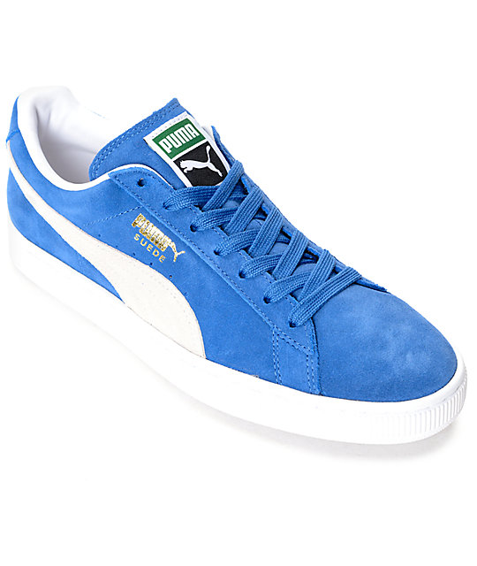 low cost 79aa7 406ce PUMA Suede Classic + Olympian Blue Shoes