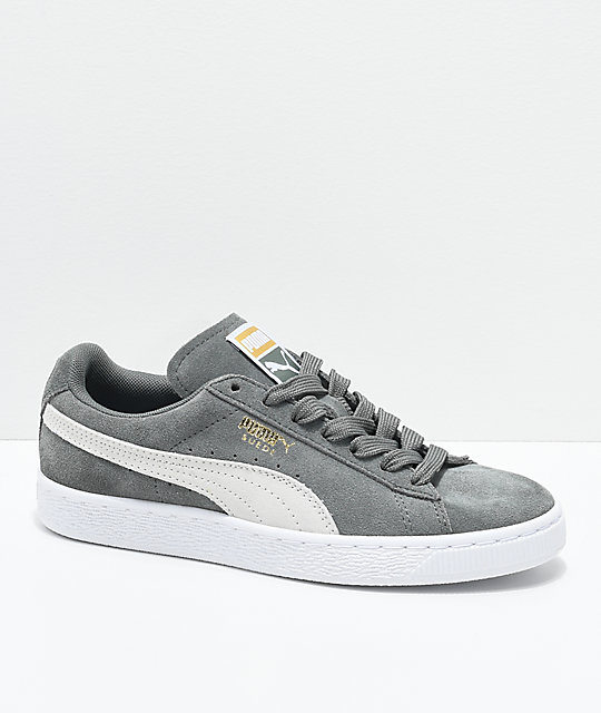 PUMA Suede Classic Agave Green   White Shoes  454935c2d