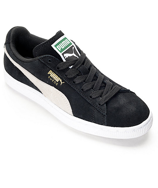 PUMA Suede Classic Black Shoes (Womens)  2620fe92efe9