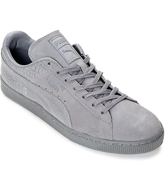 best website 7cfb7 8afb0 PUMA Suede Classic Casual Emboss Steel Grey Shoes