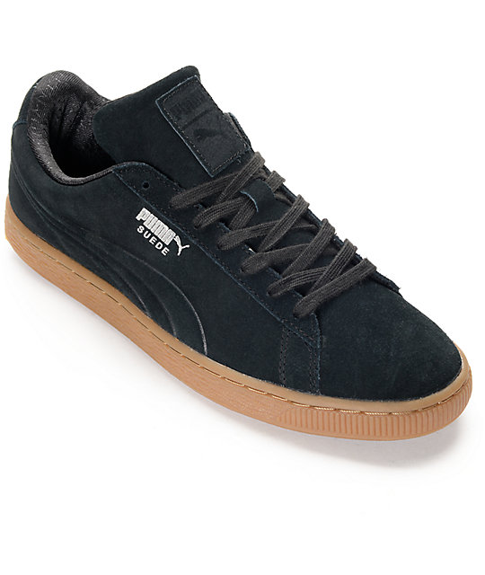 outlet store 572e4 b600c PUMA Suede Classic Debossed Black Shoes