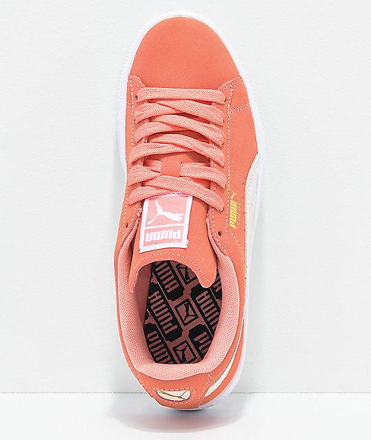 7144dc458e3f ... PUMA Suede Classic Desert Flower   White Shoes ...
