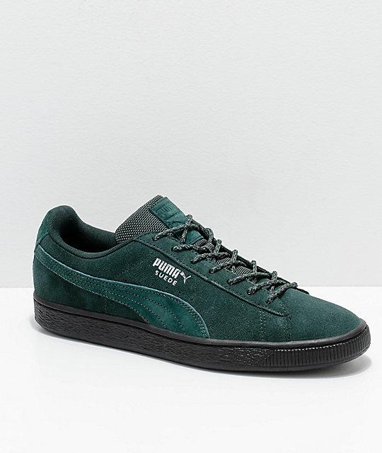 PUMA Suede Classic Green   Black Weatherproof Shoes  2699c334a5dd
