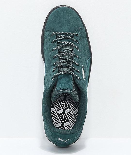 PUMA Suede Classic Green & Black Weatherproof Shoes