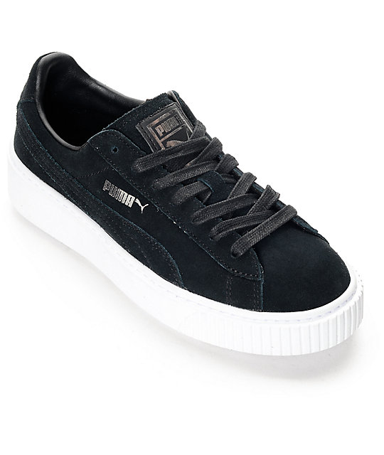 new arrival 3e59c 07095 PUMA Suede Platform Core Black Shoes (Womens)
