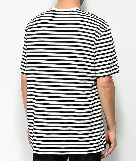 PUMA Summer Breton Black & White Striped T-Shirt
