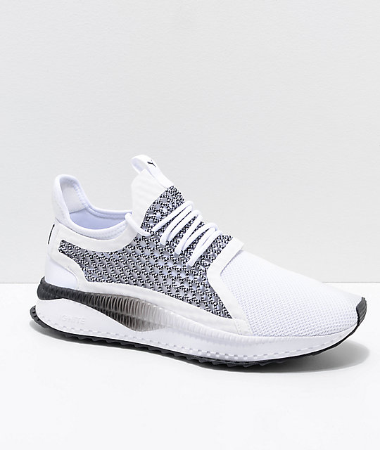 duża obniżka przybywa uważaj na PUMA Tsugi Netfit V2 Black & White Shoes