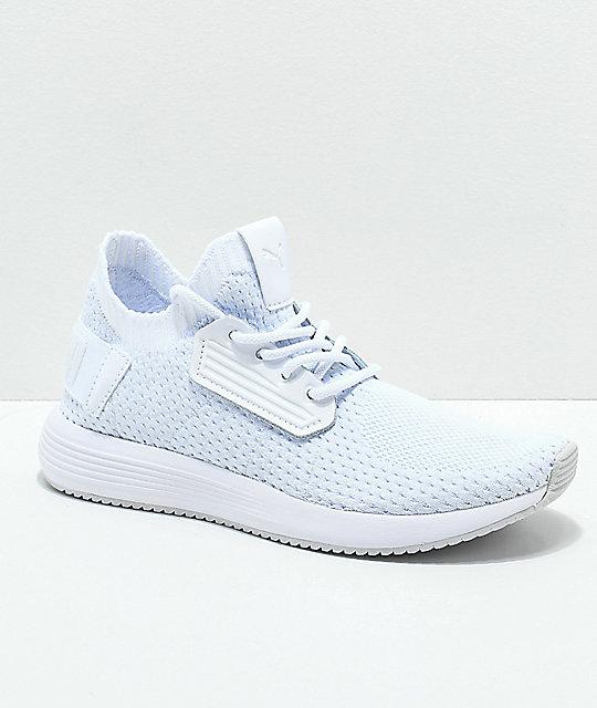 PUMA Uprise Knit White   Grey Shoes  6dd7a3847