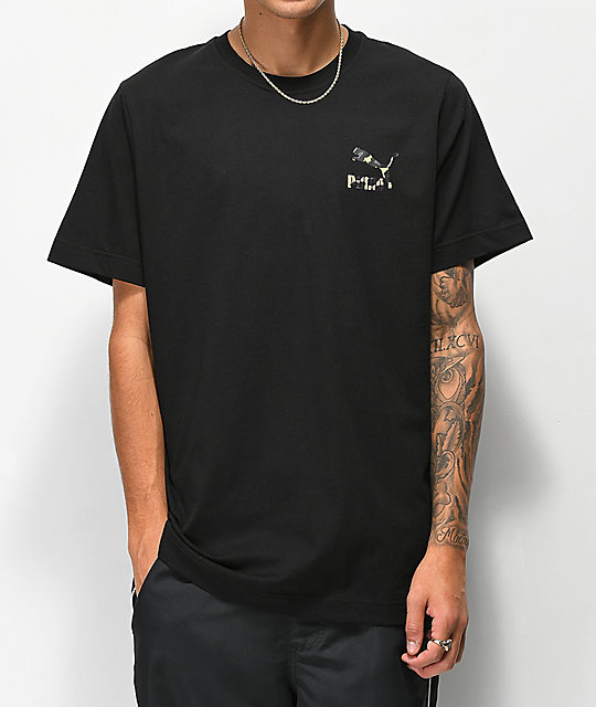 PUMA Wild Pack Black & Cheetah Print T-Shirt