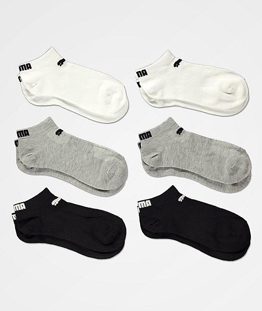 PUMA paquete de 6 calcetines en negro 320e31fbc094f