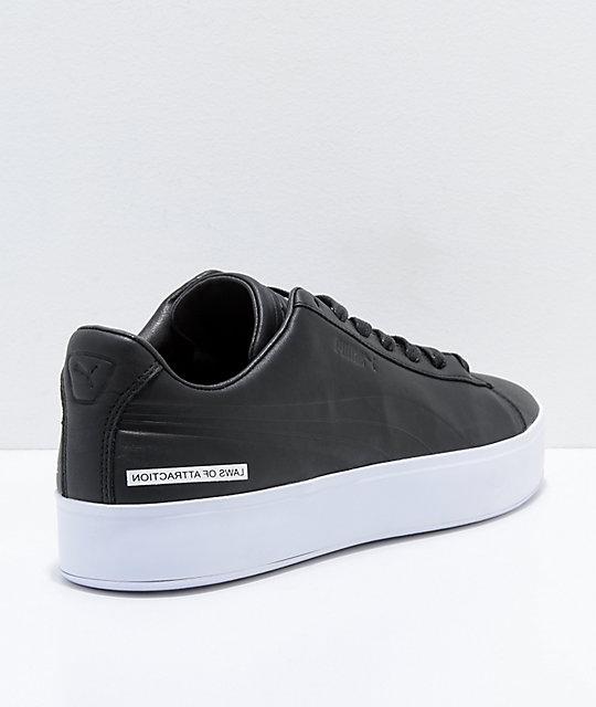 35d4ecda10d ... PUMA x Black Scale Court Platform Black   White Shoes ...