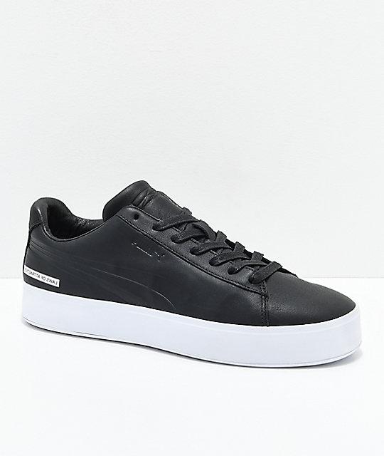 fe00aa5f40ce97 PUMA x Black Scale Court Platform Black   White Shoes