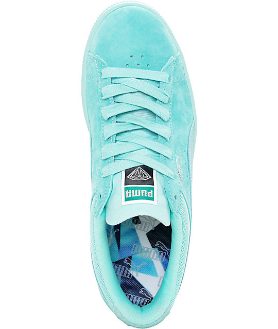 ... PUMA x Diamond Supply Suede Classic Aruba Blue Suede Shoes ... 4bfd95b3d